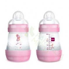 BIBERON MAM ANTICOLICO EASY START 160ML ROSA