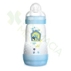 BIBERON ANTICOLICO MAM EASY START 260ML AZUL