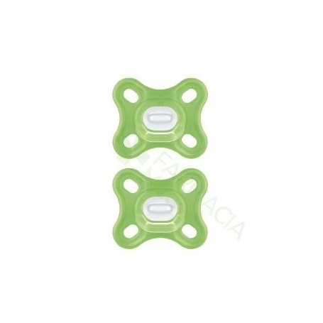 CHUPETE SILICONA MAM COMFORT NU 0+ M PACK DOBLE VERDE