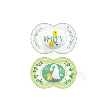 CHUPETE SILICONA MAM ORIGINAL + 6 M PACK DOBLE V