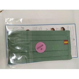 Mascarilla Higienica Adulto Reutilizable Equivalencia Ffp2 Verde Bandera Talla M