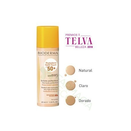 PHOTODERM NUDE SPF 50+ BIODERMA COLOR NATURAL 40